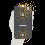 "NFC Touch Point ""Sweet Spot"""