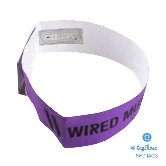 NFC Tag Inlay On Festival Wristband