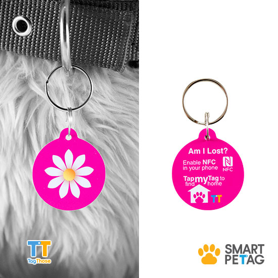 "Smart Pet Tag ""Frangipani"" Mia Series"