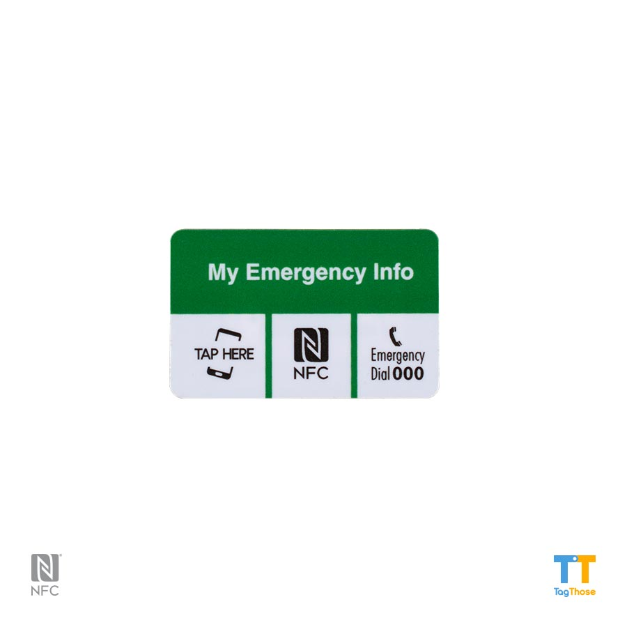 Emergency NFC Stickers