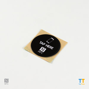Printed Antimetal NFC Stickers NTAG213Round