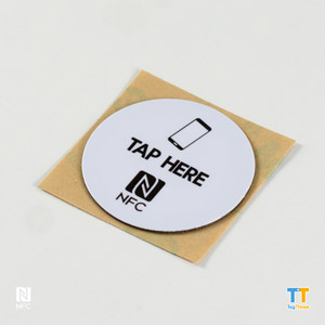 Printed Antimetal NFC Stickers NTAG216Round